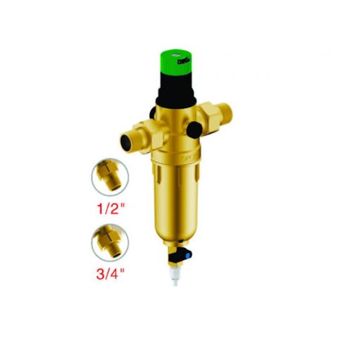 """Магистральный сетчатый фильтр Гейзер Бастион 1/2"""" с регулятором давления (d52.5) 7508155201"""
