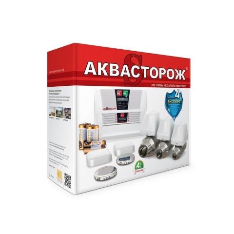 Аквасторож Эксперт PRO 1х25 краны Эксперт (1 кр + 4датч)