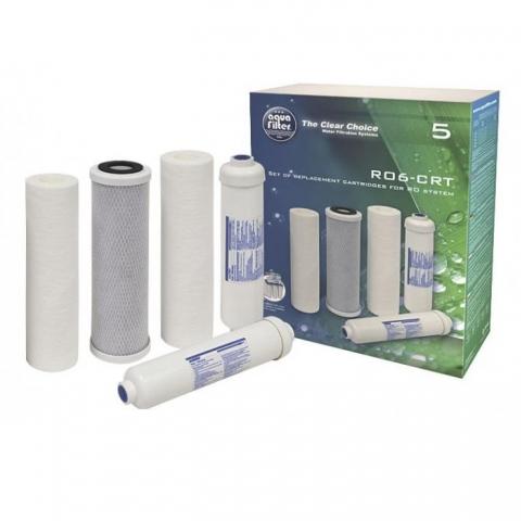 Комплект сменных картриджей Aquafilter RO6-CRT