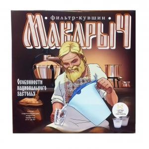 Фильтр-кувшин Гейзер Макарыч для очистки самогона, спирта, водки 62055