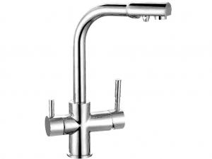 Смеситель Гейзер Lux для кухни с подключением к фильтру с питьевой водой 25431